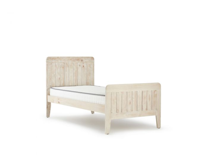 Woody Whitewash King Single Bed | Now On Sale | Bedtime.
